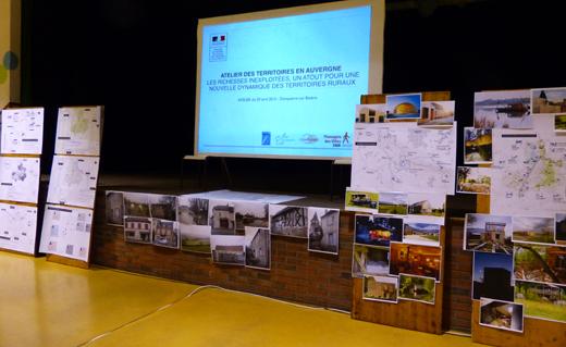 Exposition des travaux de l'atelier pour la communauté de communes du Val de Bresbe